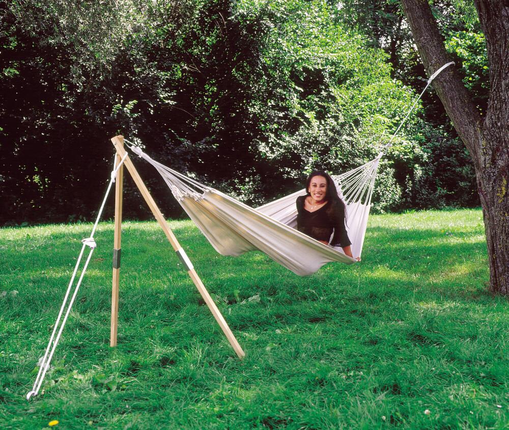 soporte para hamacas colgantes amazonas madera